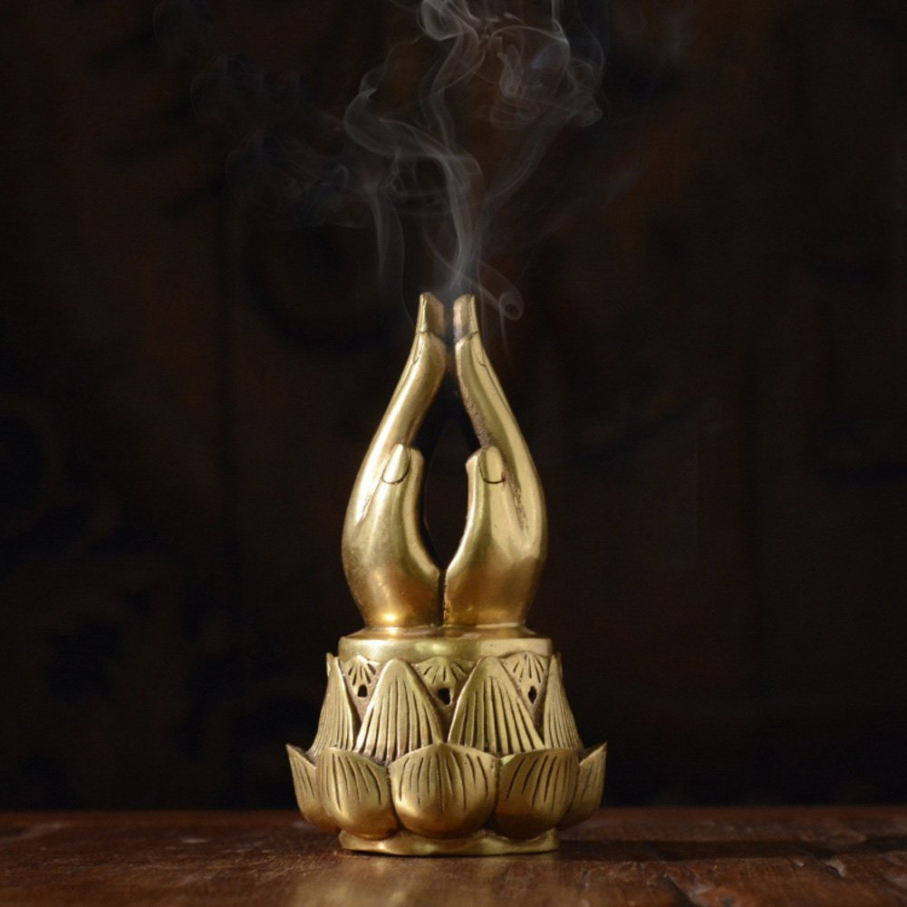DW&HX Thai Style Bergamot Spa Antique Fine Copper Incense Burner Zen Decoration Home Creative
