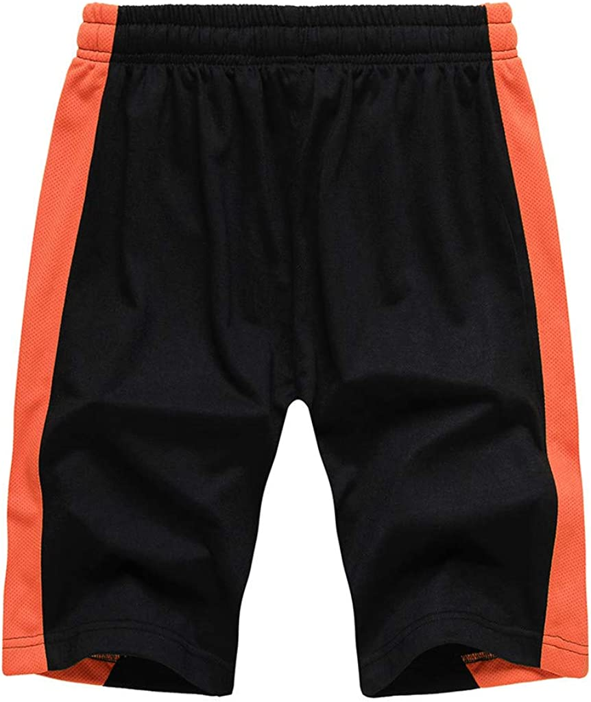 Dainzusyful Mens Workout Running Shorts Summer Sports Fitness Gym Training Athletic Drawstring Shorts with Pockets