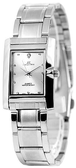 Jordan Kerr Reloj de pulsera mujer rectangular pulsera de eslabones sin níquel, jk76418g/1