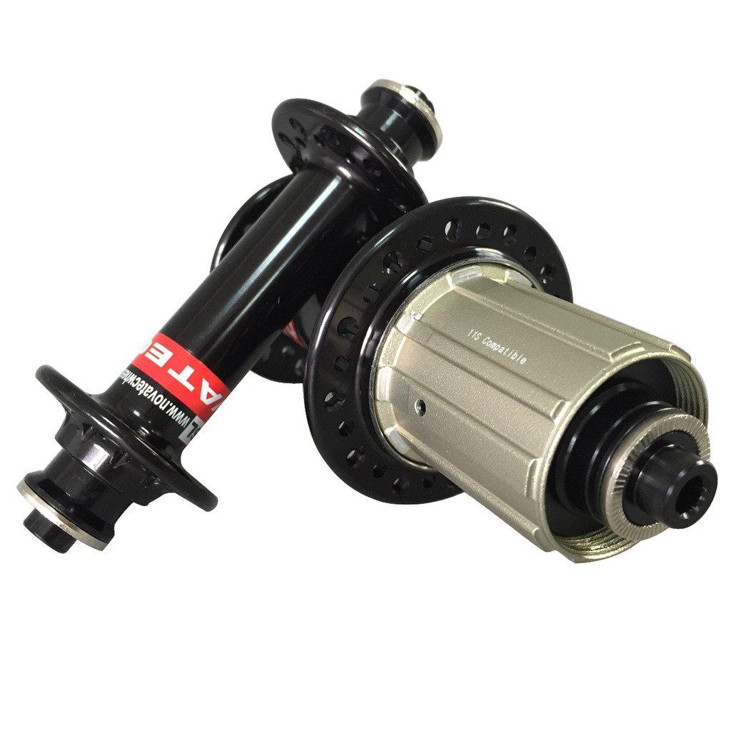 ICAN(アイカン) Novatecハブ  ロードバイク用  フックスポーク 20/24H A291SB-SL/F482SB-SL フロント:100x9mm リア:130x9mm 1ペア B015NSDHQ2