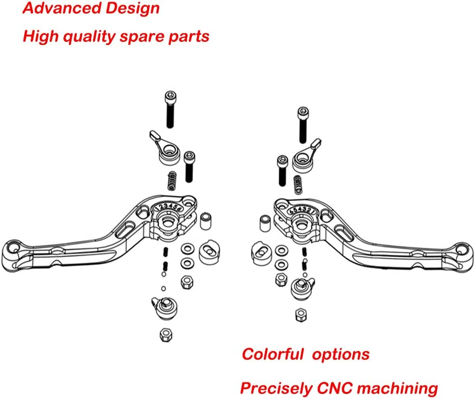 CBR1000RR 2008-2016 FIREBLADE CBR 1000 RR TARAZON CNC Bremshebel Kupplungshebel Set Verstellbar passende CBR600RR CBR 600 RR 2007-2016