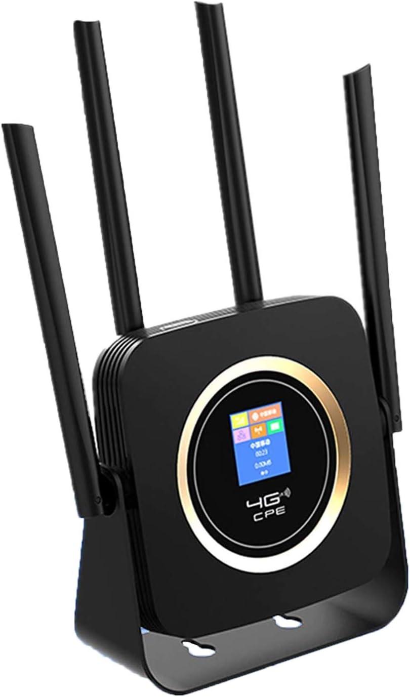 KuWFi Router 4g sim, LTE WiFi Router 4G con batería 3000Mah Tarjeta SIM LTE/FDD Router inalámbrico módem Hotspot Antena Externa