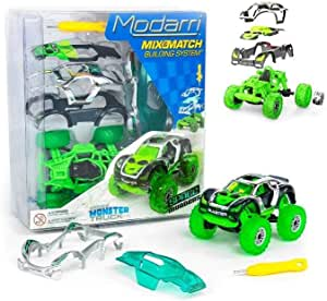 Modarri Turbo LineMonster Truck | Build Your Car Kit Toy Set - Ultimate Toy Car: Make Your Own Car Toy - for Thousands of Designs - Educational Take Apart Toy Vehicle (Space Invaders)