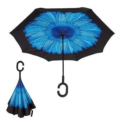 Shuaixiao858 Paraguas Ligero y Ligero con Forma de Sol Paraguas ...