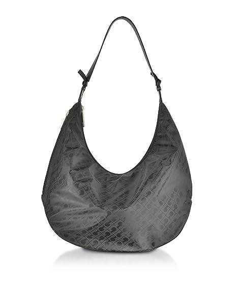 35883c4222 Gherardini Borsa A Spalla Donna Gh0281093 Cotone Nero: Amazon.it:  Abbigliamento