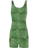 Artsadd Sparkling Groovy Metal,Green Classic One Piece Swimwear Swimsuit