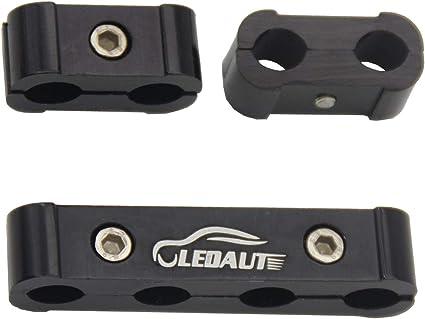 LEDAUT Black 8Cyl Spark Plug Heat Shield Protector and 12pc Engine Spark Plug Wire Separator Insulating Fire Sleeve Spark Plug Wire Protector with Divider Suit for 8mm 9mm 10mm 20pcs, Black