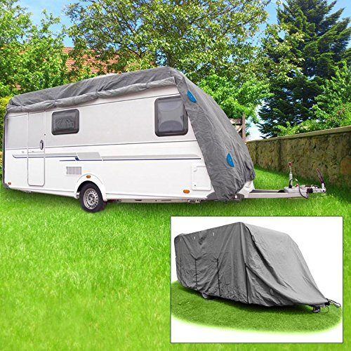 Schutzhü lle Wohnwagen Gr. XXL 7, 30 x 2, 50 x 2, 20m Abdeckung Caravan Wetterschutz BURI