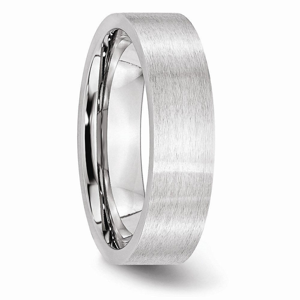 Mens Cobalt Flat Satin Wedding Band Ring
