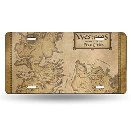 Amazon com: PIOPIEK Westeros and Free City US License Plate