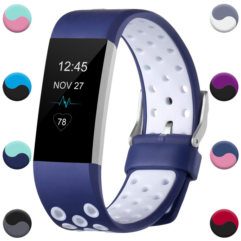 Geak Fitbit Charge 2バンド、Special Edition交換用バンドfor Fitbit charge2 Large Small 12異なる色 B074QNQFJW Small|#1 Blue/White #1 Blue/White Small