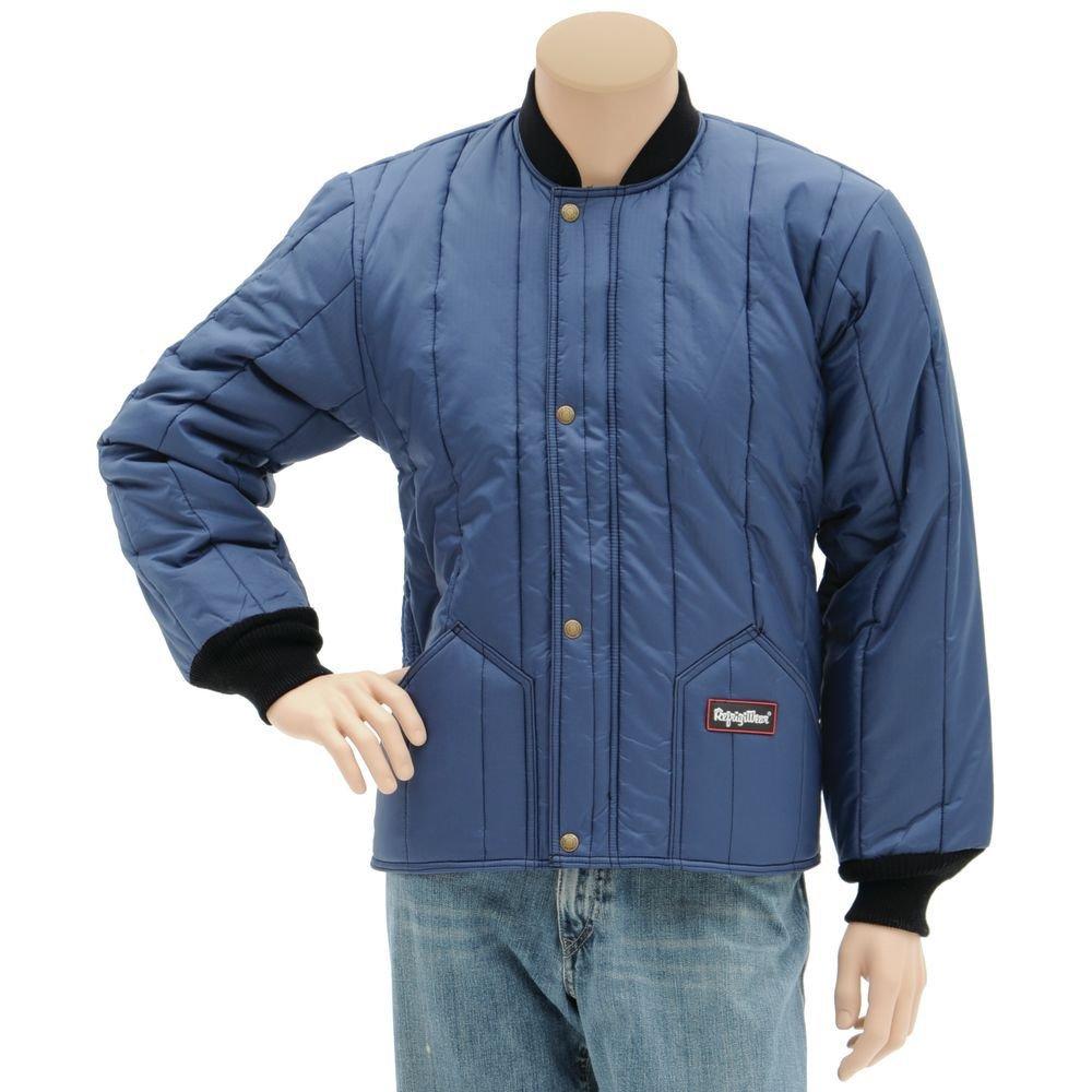 RefrigiWear Cooler Wear Jacket Regular, Navy, Medium