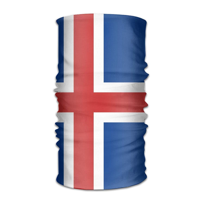 Flag Of Iceland Headwear Bandanas Seamless Headscarf Outdoor Sport Headdress Running Riding Skiing Hiking Headbands