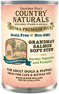 Grandma Mae'S 79700169 13.2 Oz Country Naturals Grandma'S Salmon Soft Stew Canned Dog Food, One Size