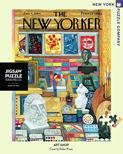 New York Puzzle Company - New Yorker Art Shop - 1000 Piece Jigsaw - Shop New Yorker