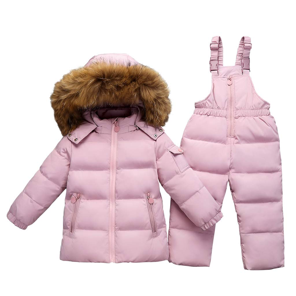 JiAmy Kids Winter Puffer Jacket and Snow Pants 2-Piece Snowsuit Skisuit Set Ltd