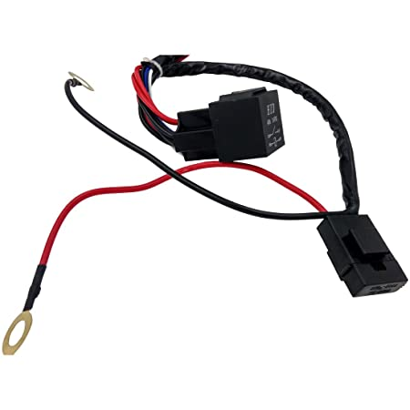 61nOaNBMzRL._SY450_ amazon com coolyeah wiring harness kit 1 lead with toggle switch  at webbmarketing.co