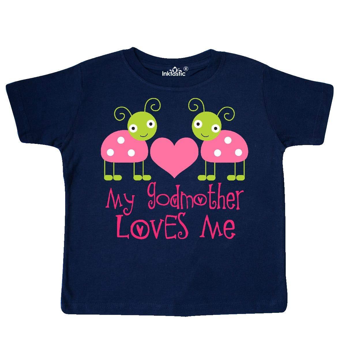 inktastic My Godmother Loves Me Girls Ladybug Toddler T-Shirt