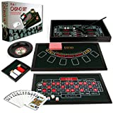 Trademark 10-01011 Poker 4-In-1 Casino Game Table Roulette, Craps, Poker, Blackjack