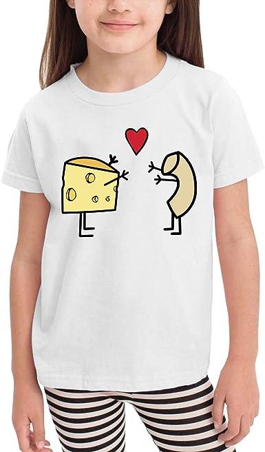 Macaroni Love Cheese Cartoon Print Baby Boys Camiseta para Verano ...