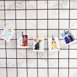 Nuofeng - Kpop BTS Card 'MAP of The Soul : Persona' Photo Lomo Cards Paper Sticker Postcard with Clip and Hemp Rope Set Gift for A.R.M.Y 40pcs
