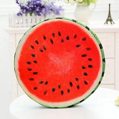 Amazon.com: Cojín de asiento con forma de fruta, divertido ...