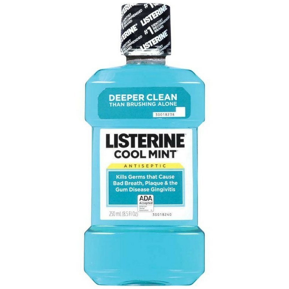 Listerine Antiseptic Mouthwash, Cool Mint 250 mL (Pack of 2)
