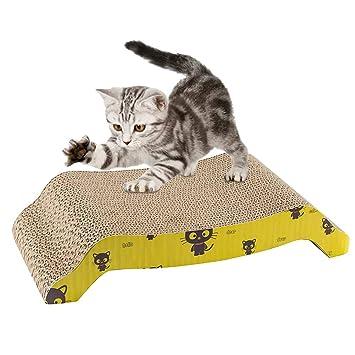 SALOVES Rascador para Gatos Tabla de Rascar para Gatos y Mascotas Rascador de Cartón para Gatos