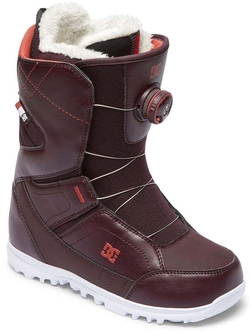 DC Search BOA Snowboard Boots Wine Womens Sz 9.5 by DC
