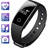 Fitness Tracker, Mpow Heart Rate Monitor Tracker Smart Bracelet Activity Tracker Bluetooth Pedometer with Sleep Monitor Smartwatch for iPhone 7 7 Plus 6 Samsung S8 and Other Android or iOS Smartphones