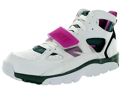 big sale b82d5 6f622 NIKE Air Trainer Huarache PRM QS Basketball Shoes Running Trainers White  647591 100 White Size