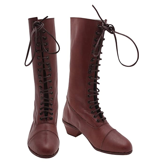 Vintage Boots- Buy Winter Retro Boots 10Code Victorian Civil War Boots Ladies Leather Shoes Brown £85.00 AT vintagedancer.com