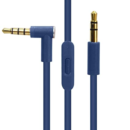 san francisco 6035c 6f9fd Replacement Cable for Beats by Dr. Dre Headphone Solo 2/3  HD/Studio/Pro/Detox/Wireless,Cord Extension with Talk Control Compatible  for Samsung S8 LG ...