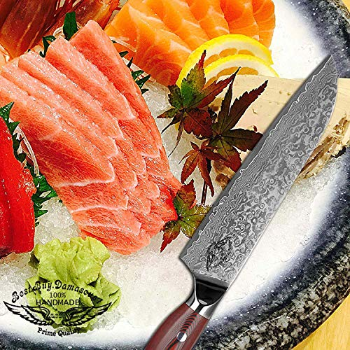Santoku Chef knife 8 inch Best Quality Japanese VG -10 Super Steel 67 Layer High Carbon Stainless Steel, Incredible G10 Handle, Full-tang, Razor Sharp Chef Blade Kitchen Carving fillet chefs knives by Best.Buy.Damascus1 (Image #3)
