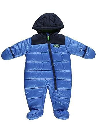 ce96c1bec035 Amazon.com  Carter Infant Boy Quilted Blue Snowsuit Baby Pram ...