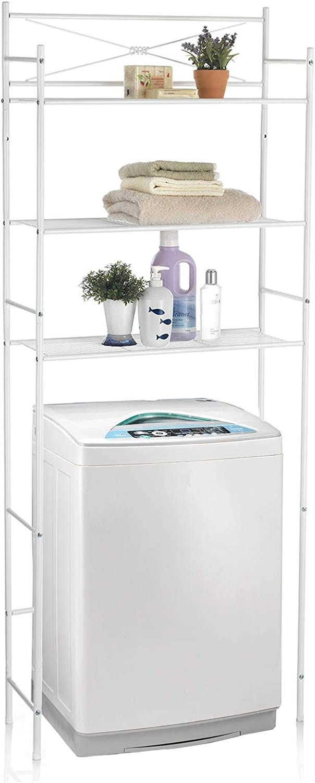 CARO-M/öbel Toilettenregal MARSA Waschmaschinenregal Badezimmerregal Bad WC Regal mit 3 Ablagen in Chrom