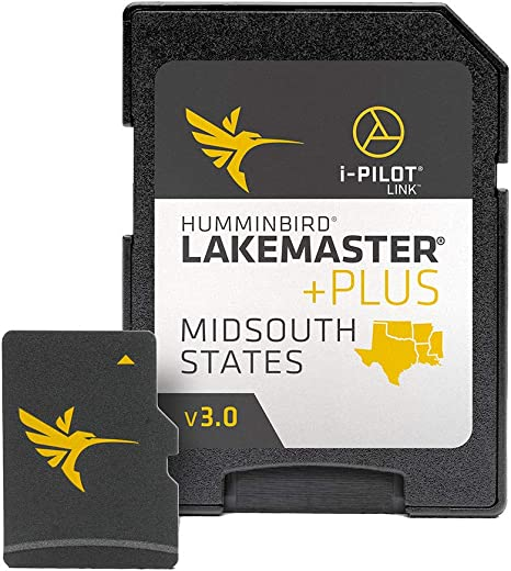 Humminbird LakeMaster Plus Mid-South States Edition Digital GPS Lake y mapas aéreos, tarjeta micro SD, versión 3, color negro: Amazon.es: Electrónica