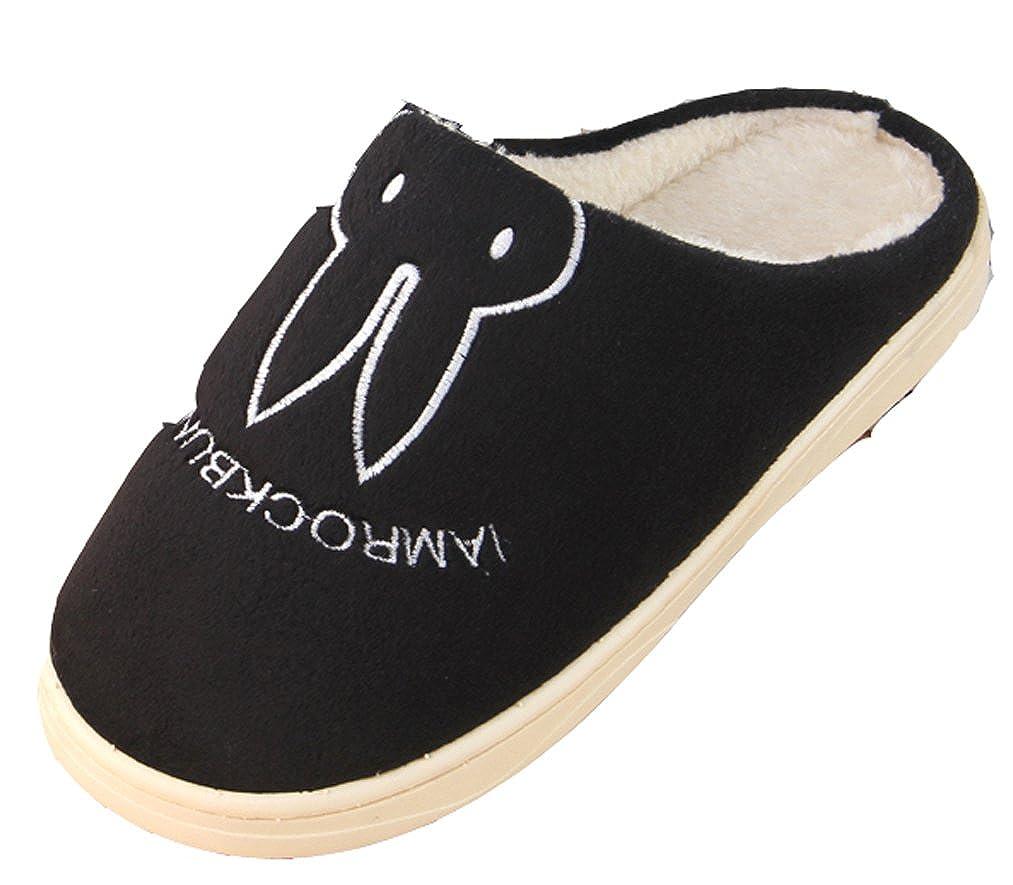 ブルビレディース可愛いウサギスリッパBunny靴 B017XFK9AK  ブラック 9 B(M) US