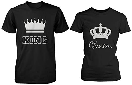 amazon 365 printing cute matching couple shirts king and queen