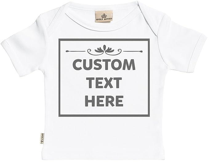 5b38563e5 SR - Personalised Text Box Baby T-Shirt - Personalised Baby T-Shirt -