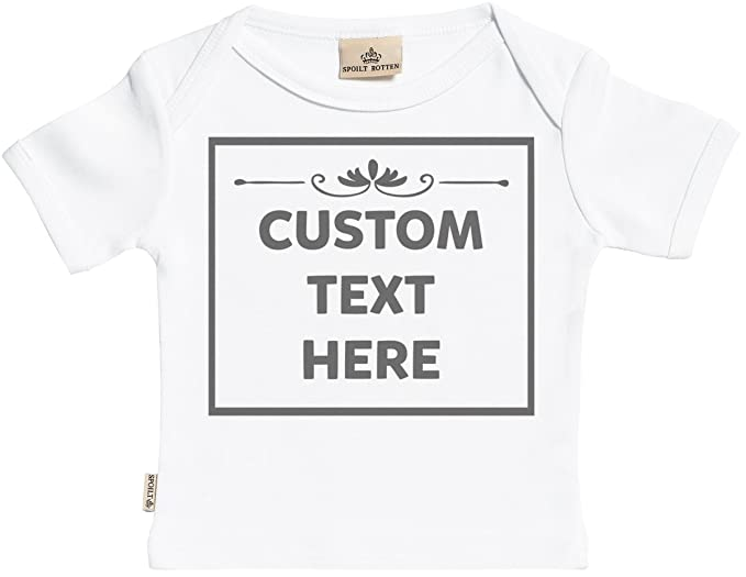 9827057c9 Personalizados bebé Text Box camisetas personalizados para bebé niño - camisetas  personalizados para bebé niña -