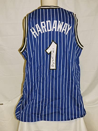 premium selection aef98 95f45 Penny Hardaway Autographed Jersey - Anfernee Custom Blue ...