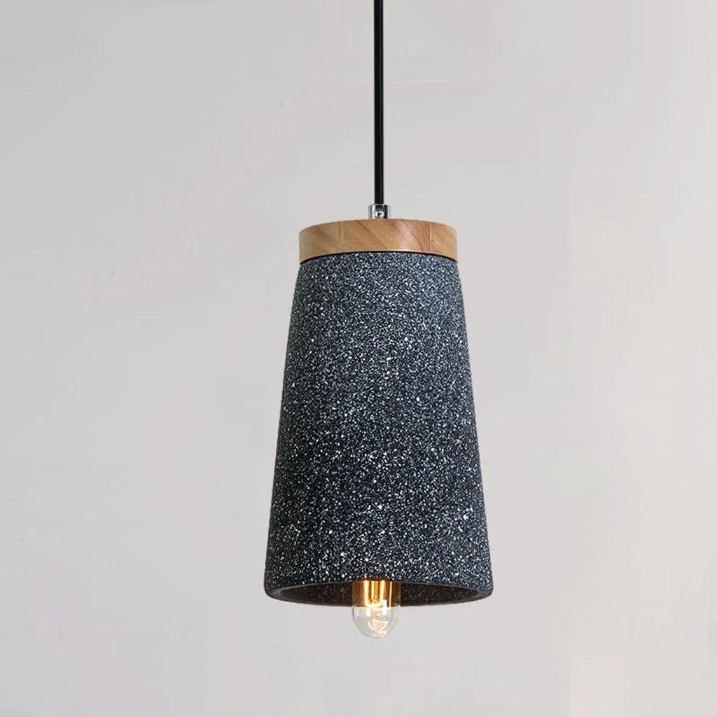 ZYANZ- Industrial Wind Lamp Retro Cement Chandeliers Modern Minimalist Creative Personality Art Restaurant Single Head Lamps ( Color : Sand black )