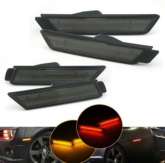 Heinmo pour Chevy Camaro 2010-2015 2014 Feux avant et arrière à LED ambre