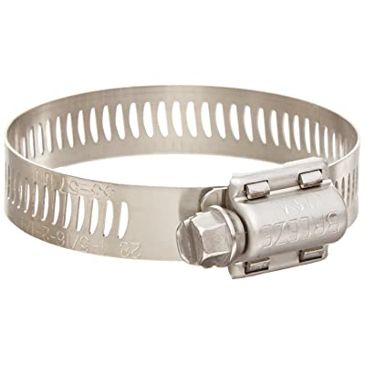 Breeze Power-Seal Stainless Steel Hose Clamp, Worm-Drive, SAE Size 12, 11/16 to 1-1/4 Diameter Range, 1/2 Bandwidth (Pack of 10), Model: 62012, Car & Vehicle Accessories / Parts : Garden & Outdoor