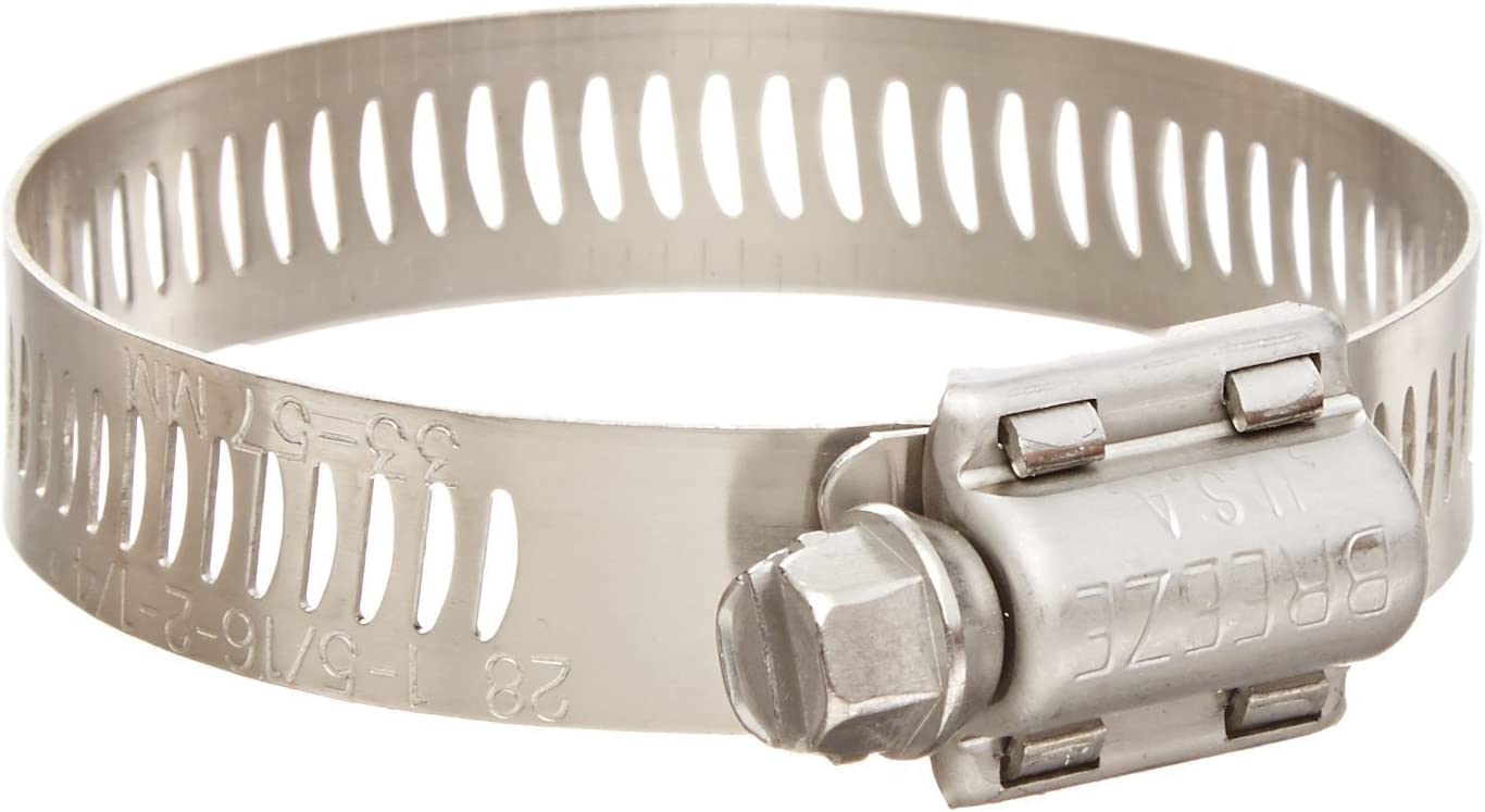 40mm - 64mm 10 Pack Breeze 64032H Power Seal Clamps with 410 Stainless Screw Effective Diameter Range 1-9//16-2-1//2