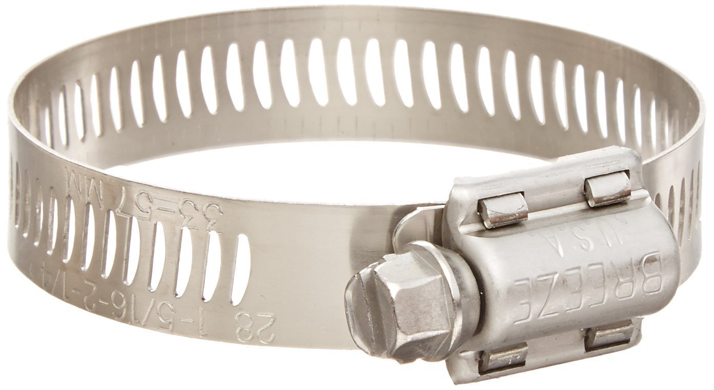10 Pack Breeze 64020H Power Seal Clamps with 410 Stainless Screw Effective Diameter Range: 13/16' - 1-3/4' (21mm - 44mm)