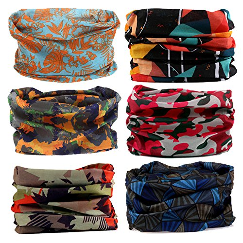 LOTUYACY Headwear Versatile Lightweight Sports & Casual Wide Headbands for Men and Women, Workout,Yoga Multi Function,Constructed with High Performance Moisture Wicking - Hippie Fashion Mens