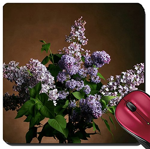 Liili Suqare Mousepad 8x8 Inch Mouse Pads/Mat beautiful large bouquet of springtime lilacs in the studio shooting Image ID (Lilac Studio)