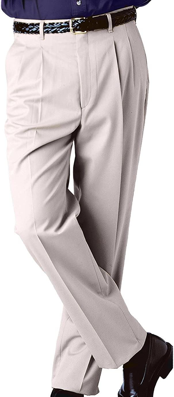 Ed Garments MenS Tall Business Casual Chino Pleated Pant-Sand-52-Ul